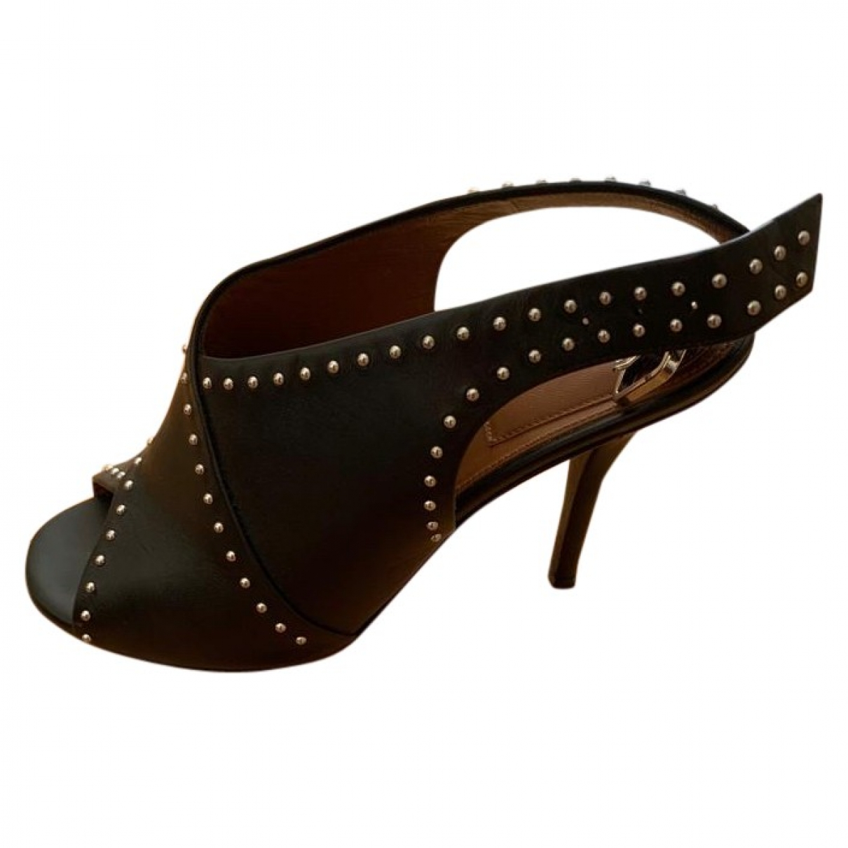Givenchy \N Black Leather Sandals for Women 37.5 EU