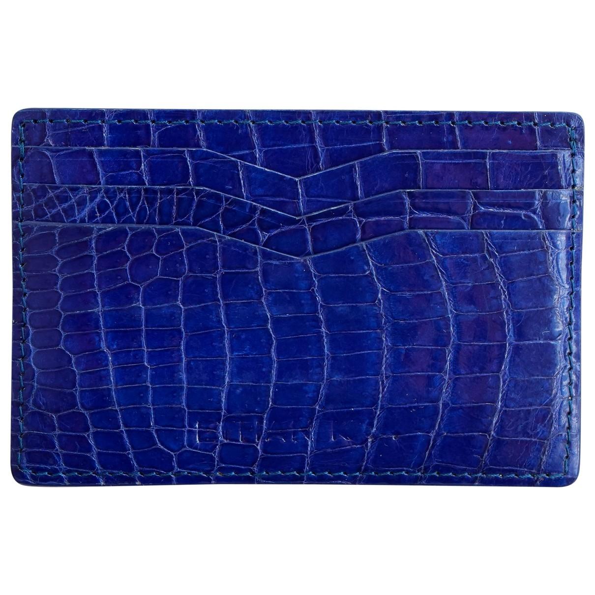 Ethan K \N Portemonnaie in  Blau Krokodil