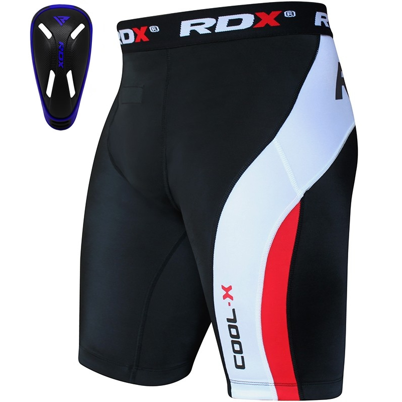 RDX Coquille Protection and Thermique Short de Compression Petite  Bleu Neoprene