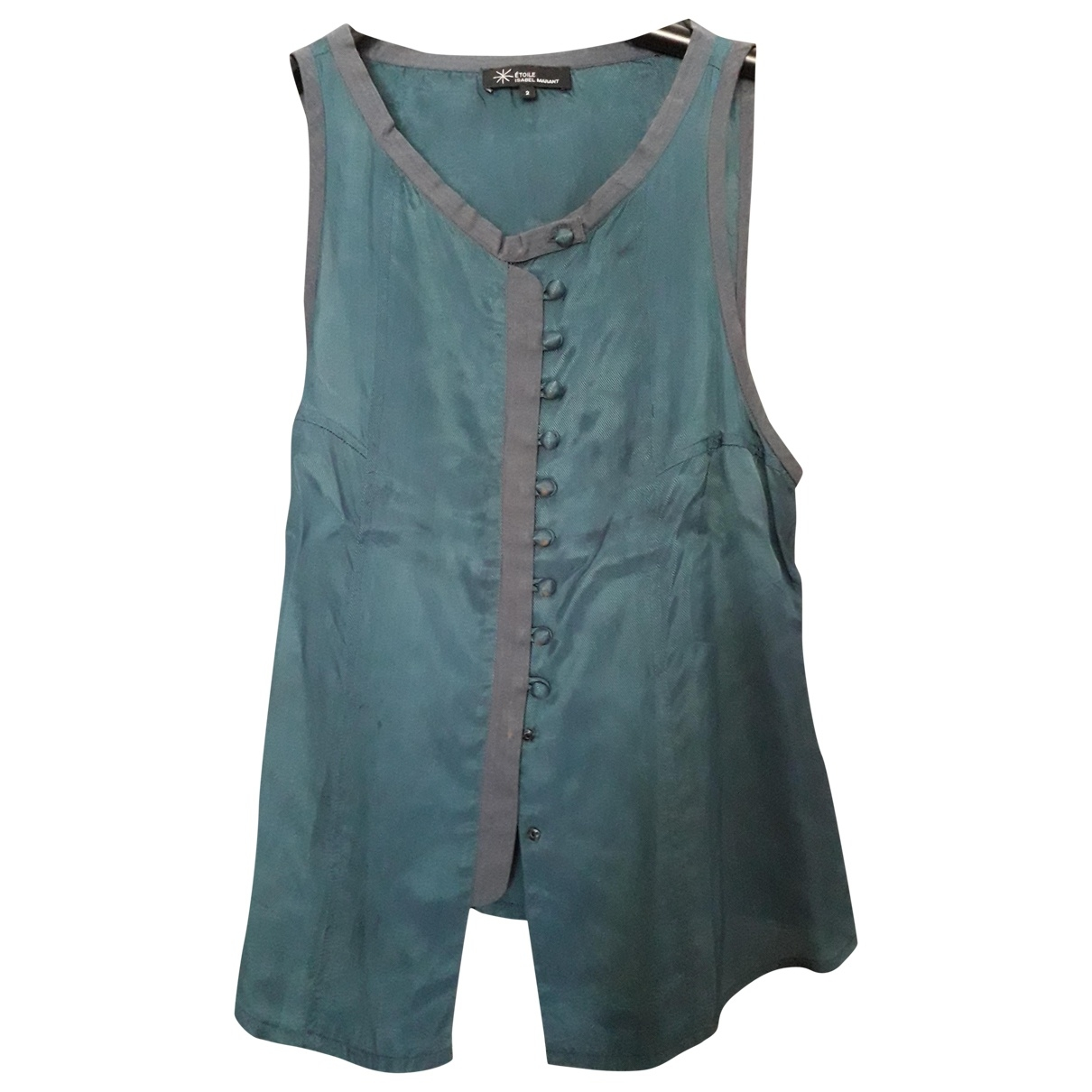 Isabel Marant Etoile \N Turquoise Cotton  top for Women 2 0-5