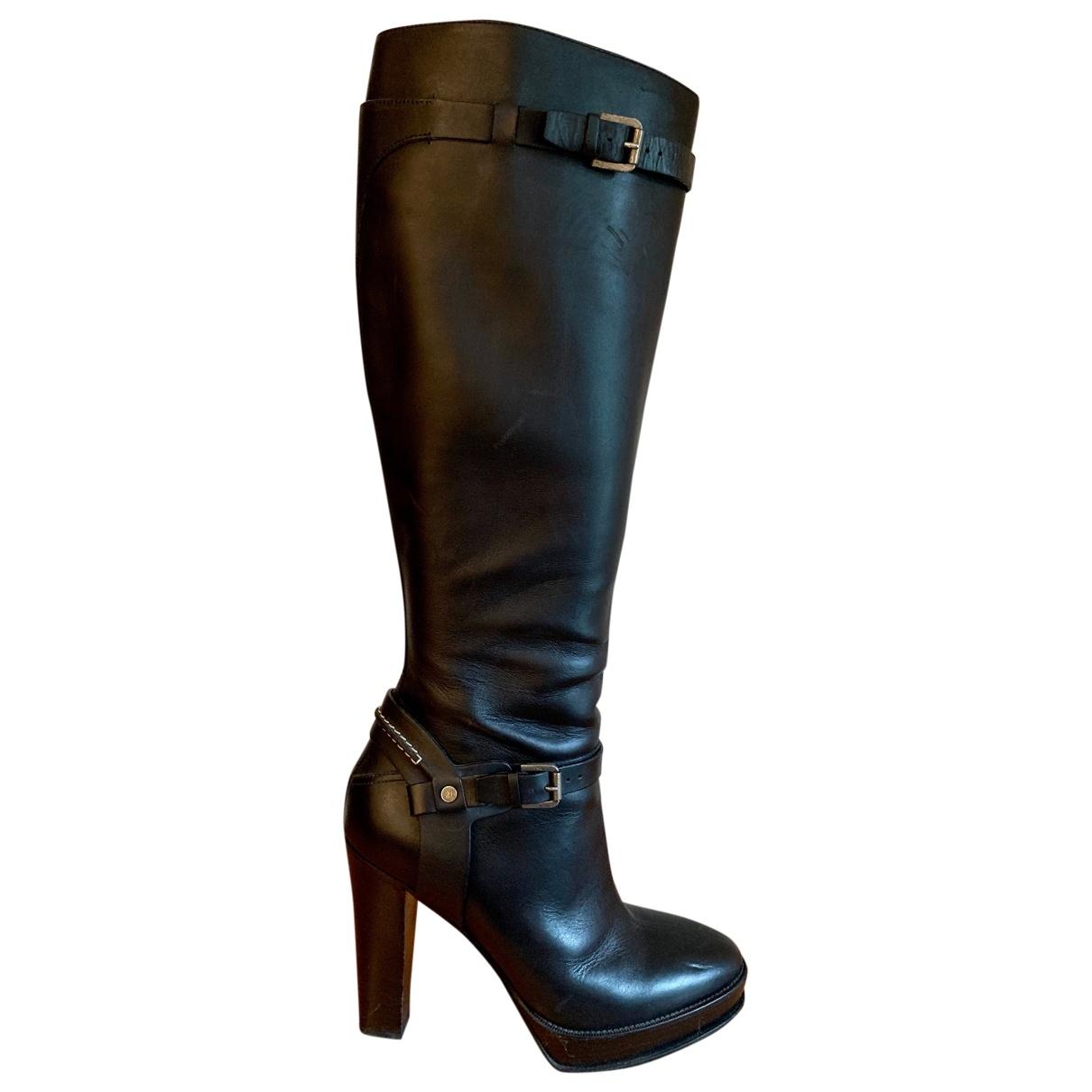 Ralph Lauren Collection - Bottes   pour femme en cuir - noir