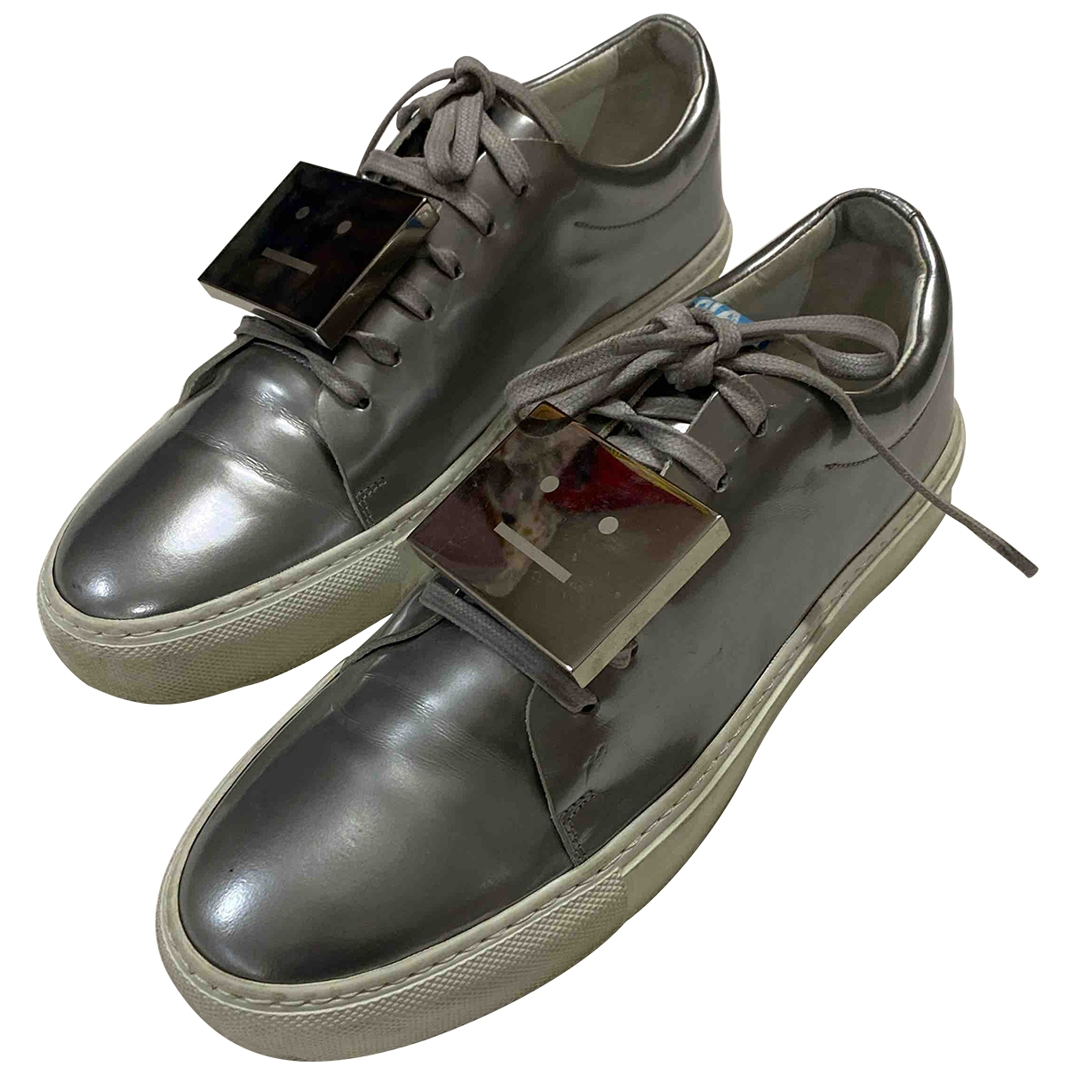 Acne Studios \N Silver Patent leather Trainers for Women 39 EU