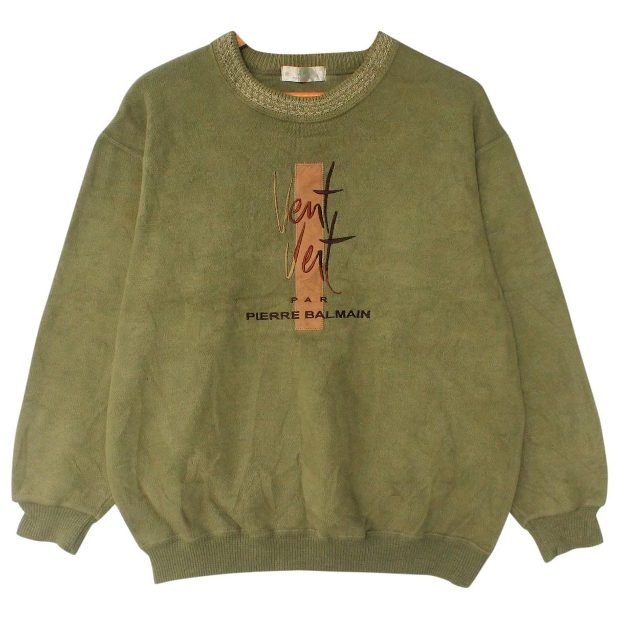 Pierre Balmain \N Pullover.Westen.Sweatshirts  in  Gruen Baumwolle