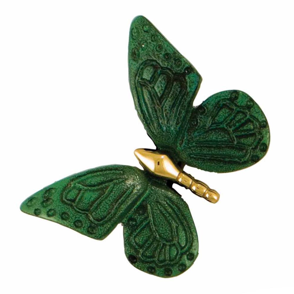 Butterfly Doorbell Ringer - Brass/Green Patina