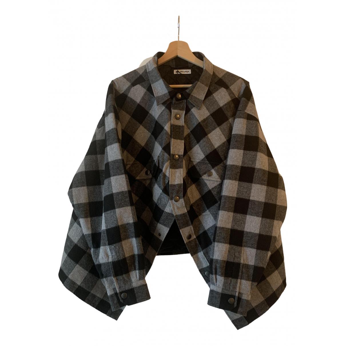 Balenciaga \N Black Cotton jacket for Women 38 FR