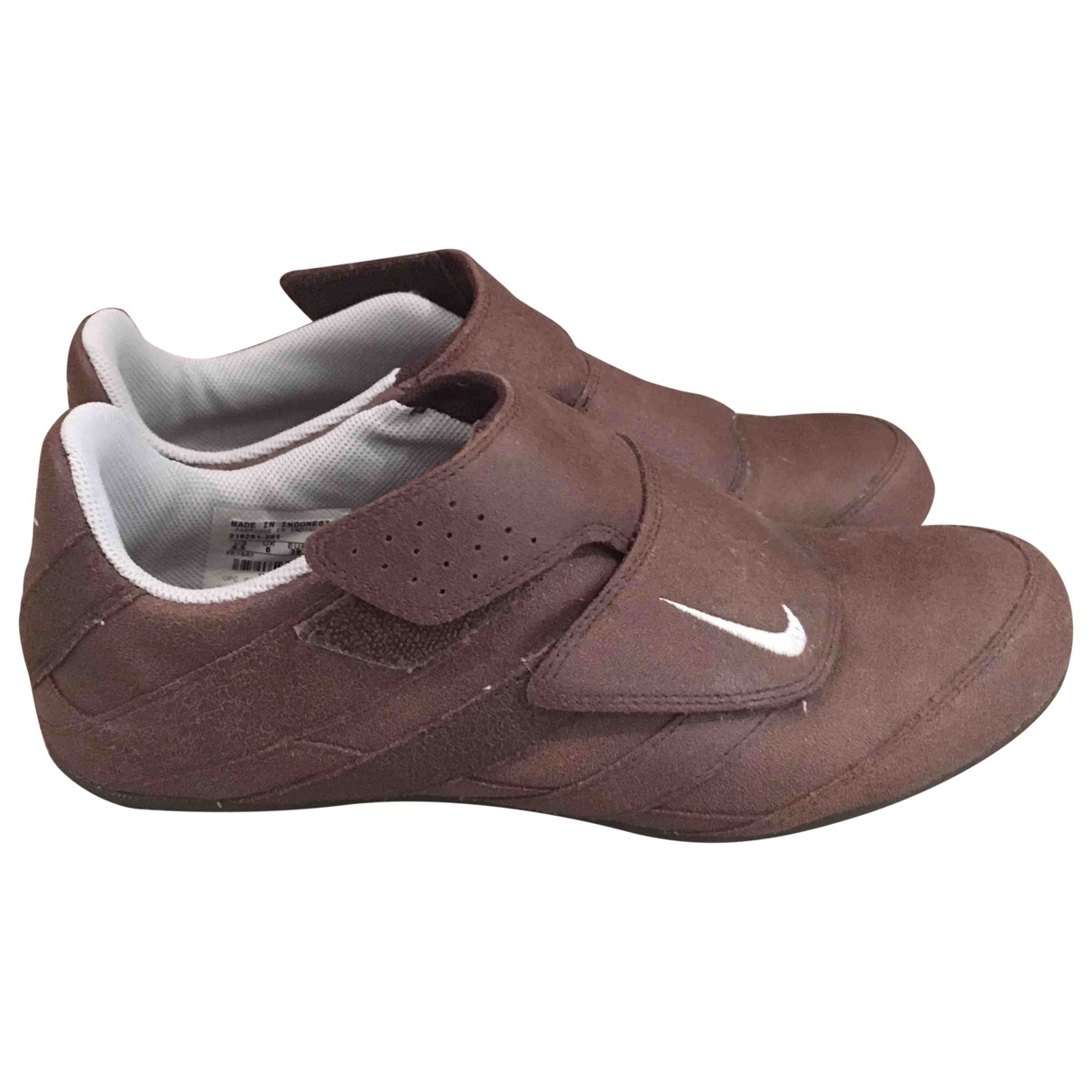 Nike \N Brown Leather Trainers for Women 39 EU