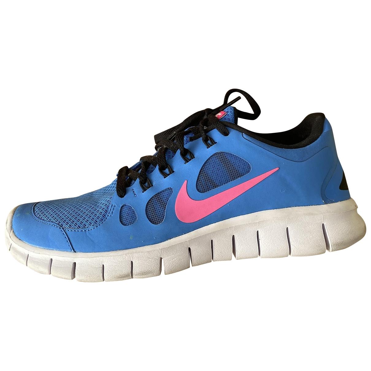 Nike - Baskets Free Run pour femme - bleu