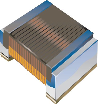 Bourns , CW161009A, 0603 (1608M) Wire-wound SMD Inductor with a Ceramic Core, 100 nH ±5% 400mA Idc Q:34 (3000)