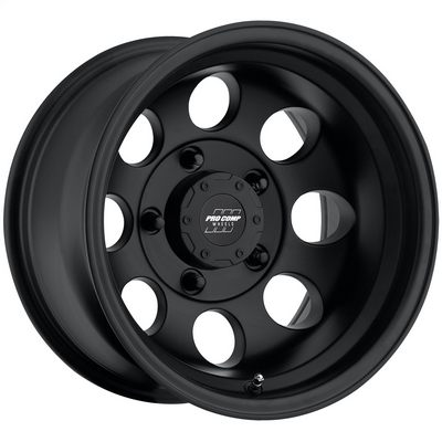 Pro Comp 69 Series Vintage, 15x10 Wheel with 5 on 5.5 Bolt Pattern - Flat Black - 7069-5185