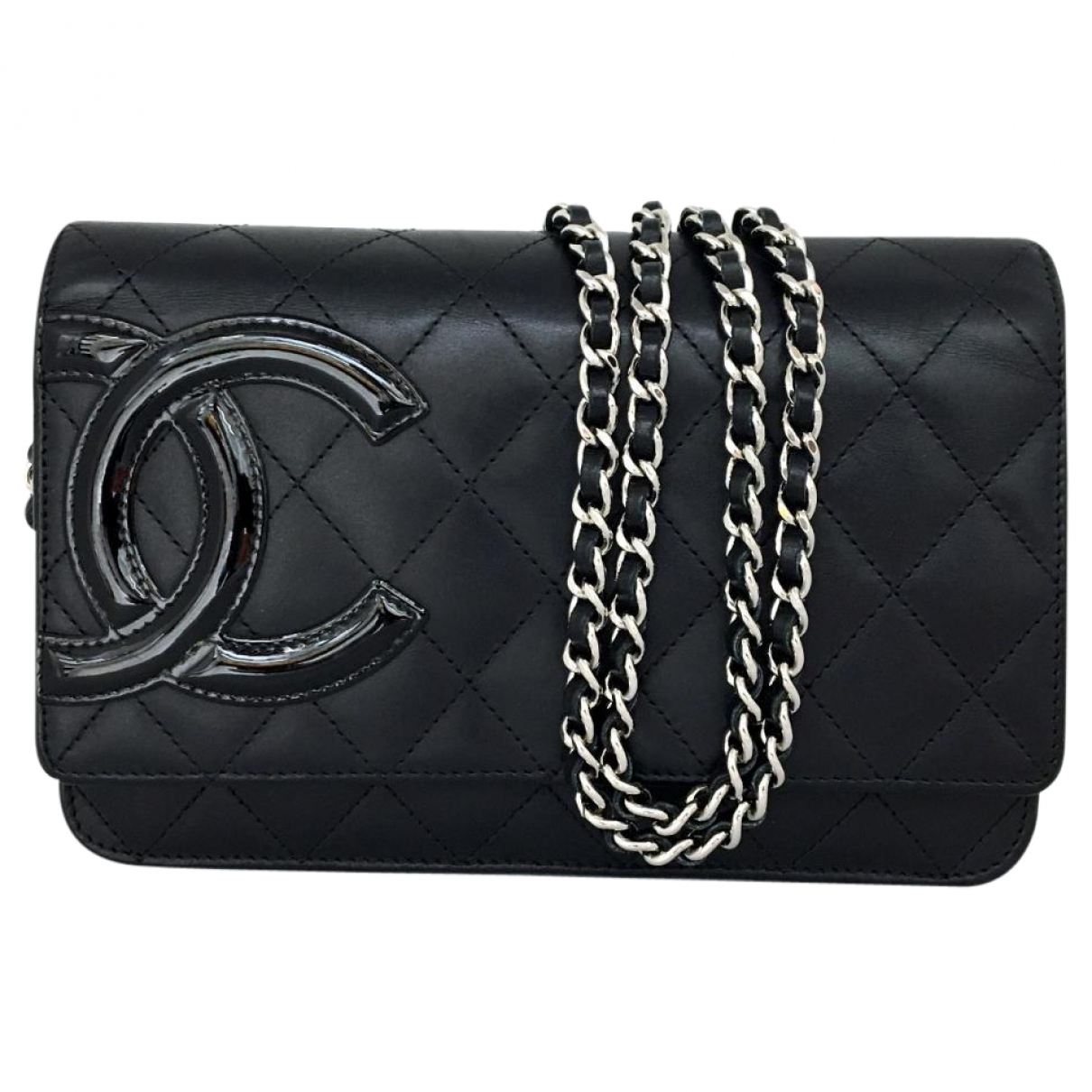 Chanel Cambon Black Leather handbag for Women \N