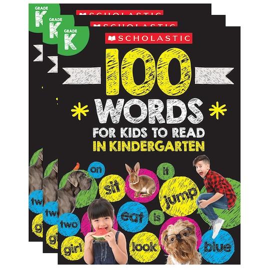 Scholastic® 100 Words For Kids To Read In Kindergarten, 3Ct. | Michaels®