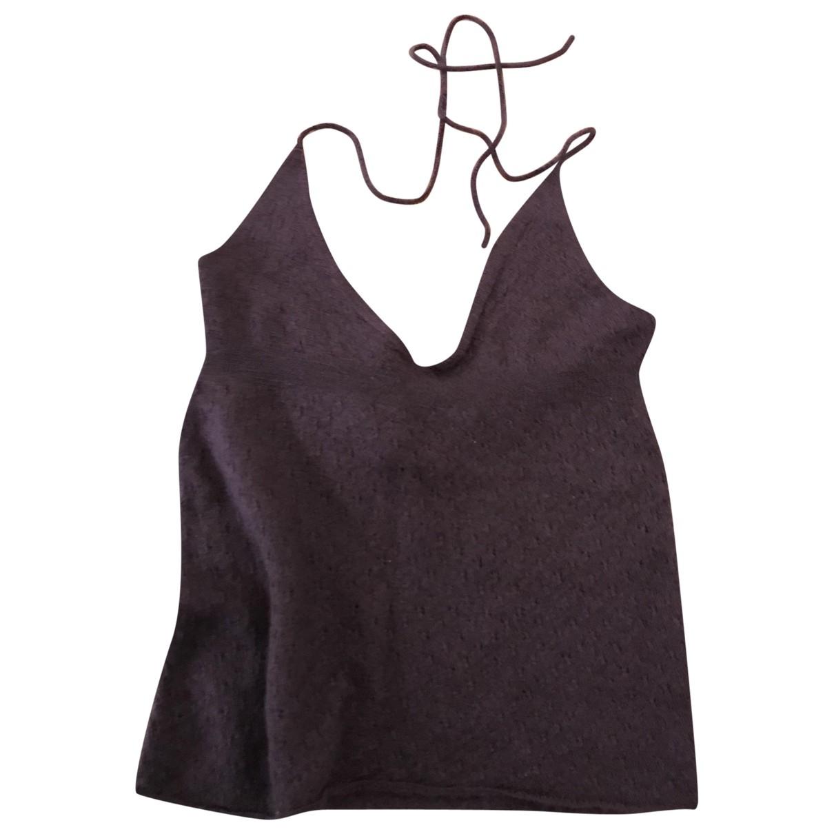 Louis Vuitton \N Burgundy Cashmere  top for Women 34 FR