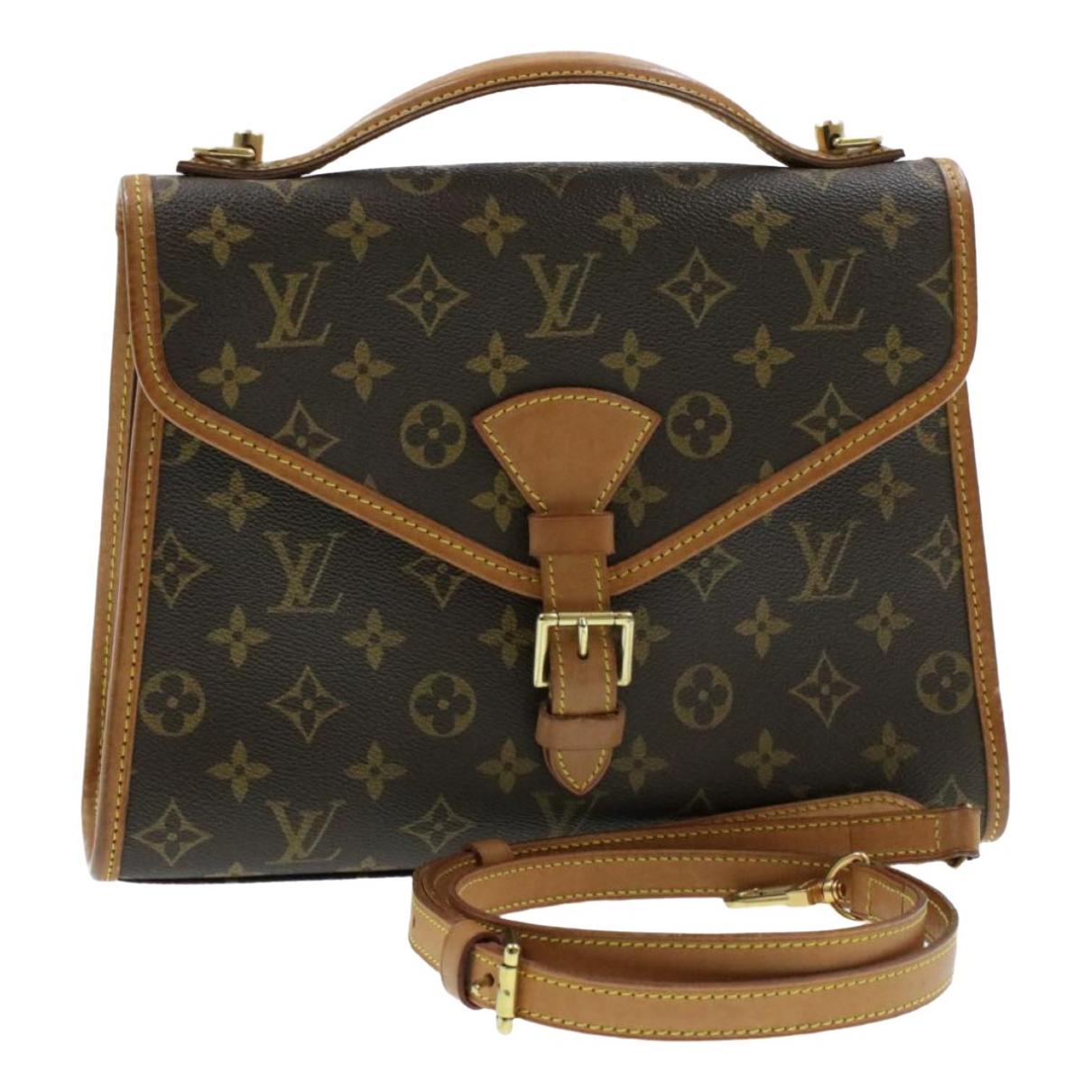 Louis Vuitton Bel Air Handtasche in  Braun Leinen
