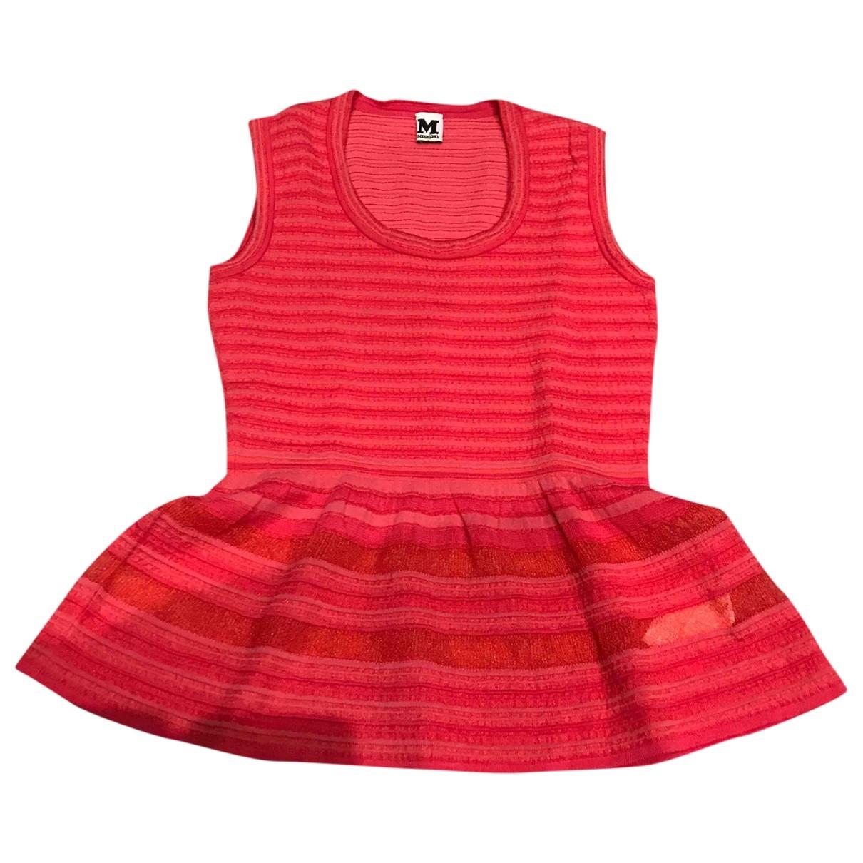 M Missoni - Top   pour femme en coton - rouge