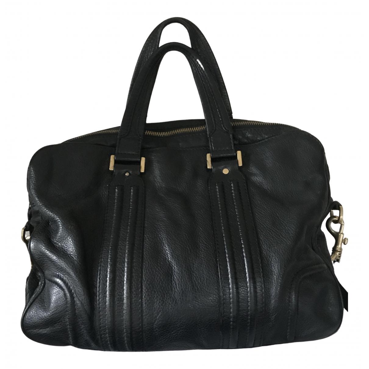Mcm \N Black Leather bag for Men \N