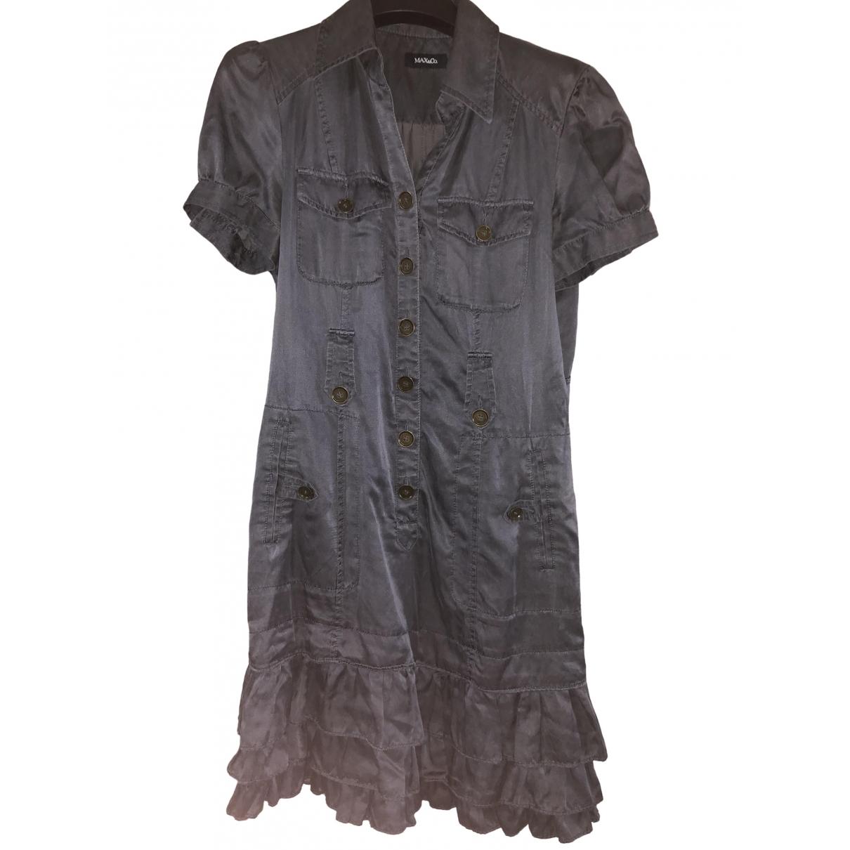 Max & Co \N Black Silk dress for Women 36 FR