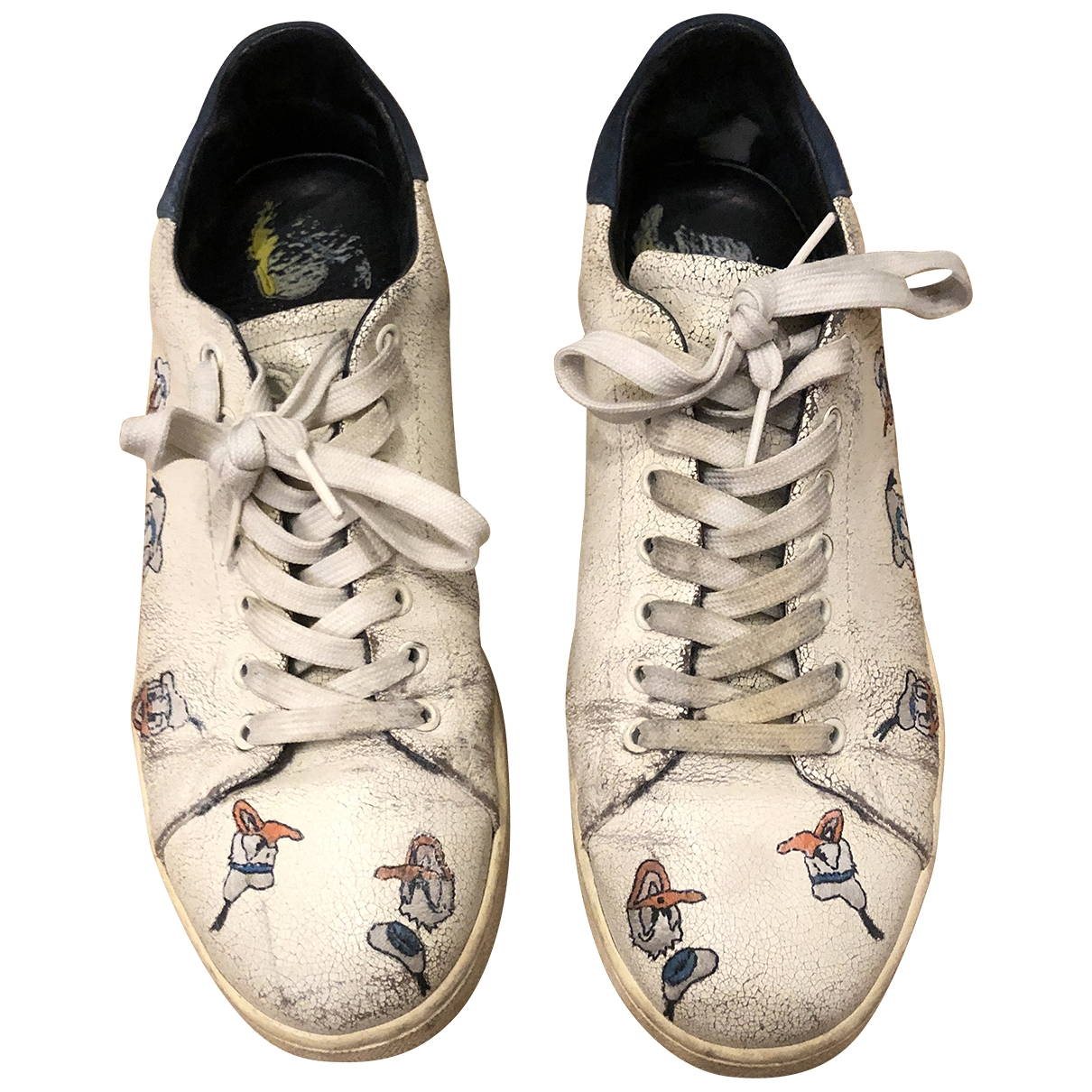 Moa Master Of Arts \N Sneakers in  Weiss Leder