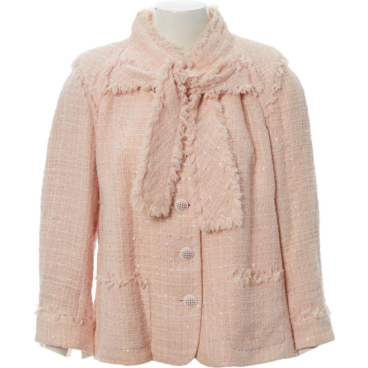 Chanel - Veste   pour femme en soie - rose