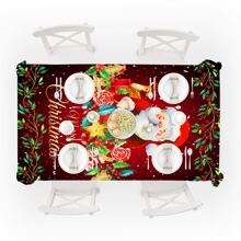 Santa Claus Print Tablecloth