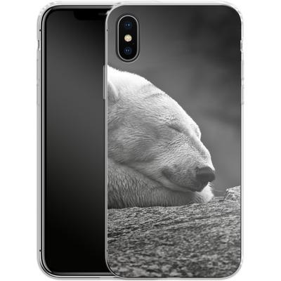 Apple iPhone X Silikon Handyhuelle - Polar Bear von caseable Designs
