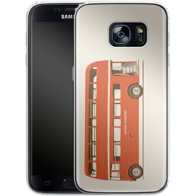 Samsung Galaxy S7 Silikon Handyhuelle - Red London Bus von Florent Bodart