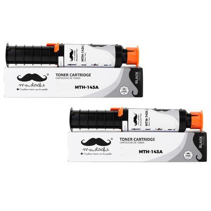 Compatible HP 143A W1143A Black Neverstop Toner Reload Kit - Moustache® - 2/Pack
