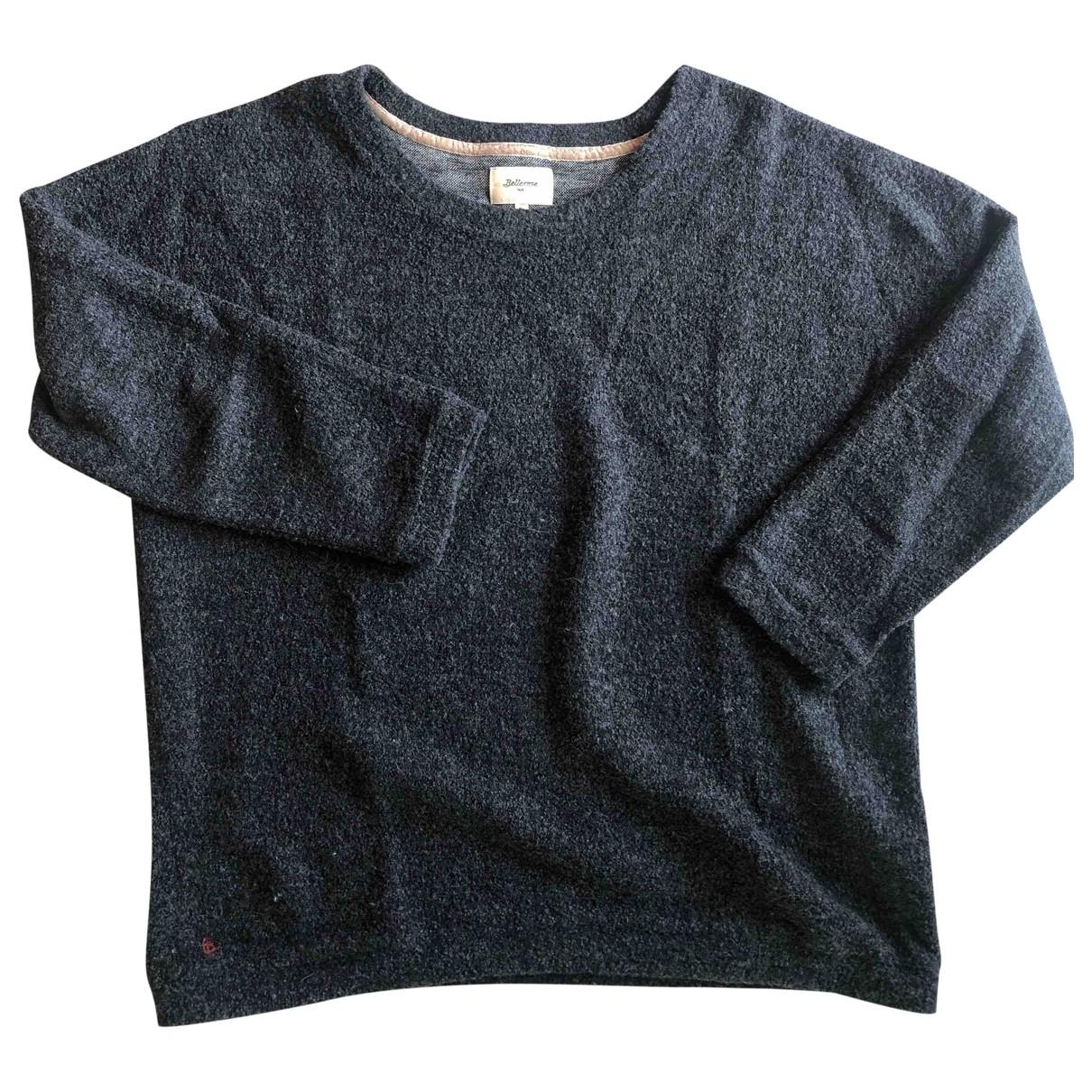 Bellerose \N Pullover in  Anthrazit Baumwolle
