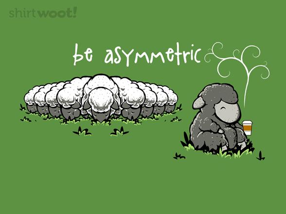 Be Asymmetric T Shirt