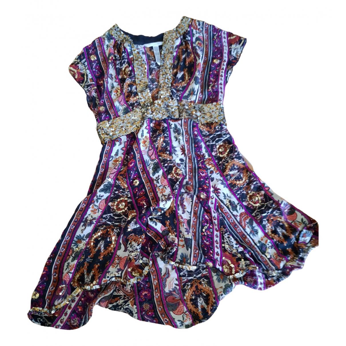 Diane Von Furstenberg \N Kleid in  Bunt Mit Pailletten