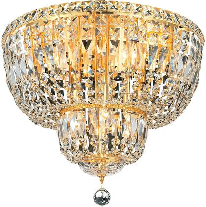 V2528F20G/SS 2528 Tranquil Collection Flush Mount D:20In H:16In Lt:10 Gold Finish (Swarovski   Elements