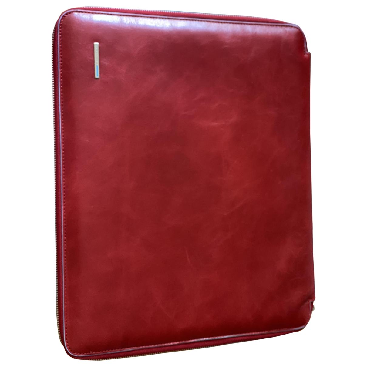Piquadro - Portefeuille   pour femme en cuir - rouge