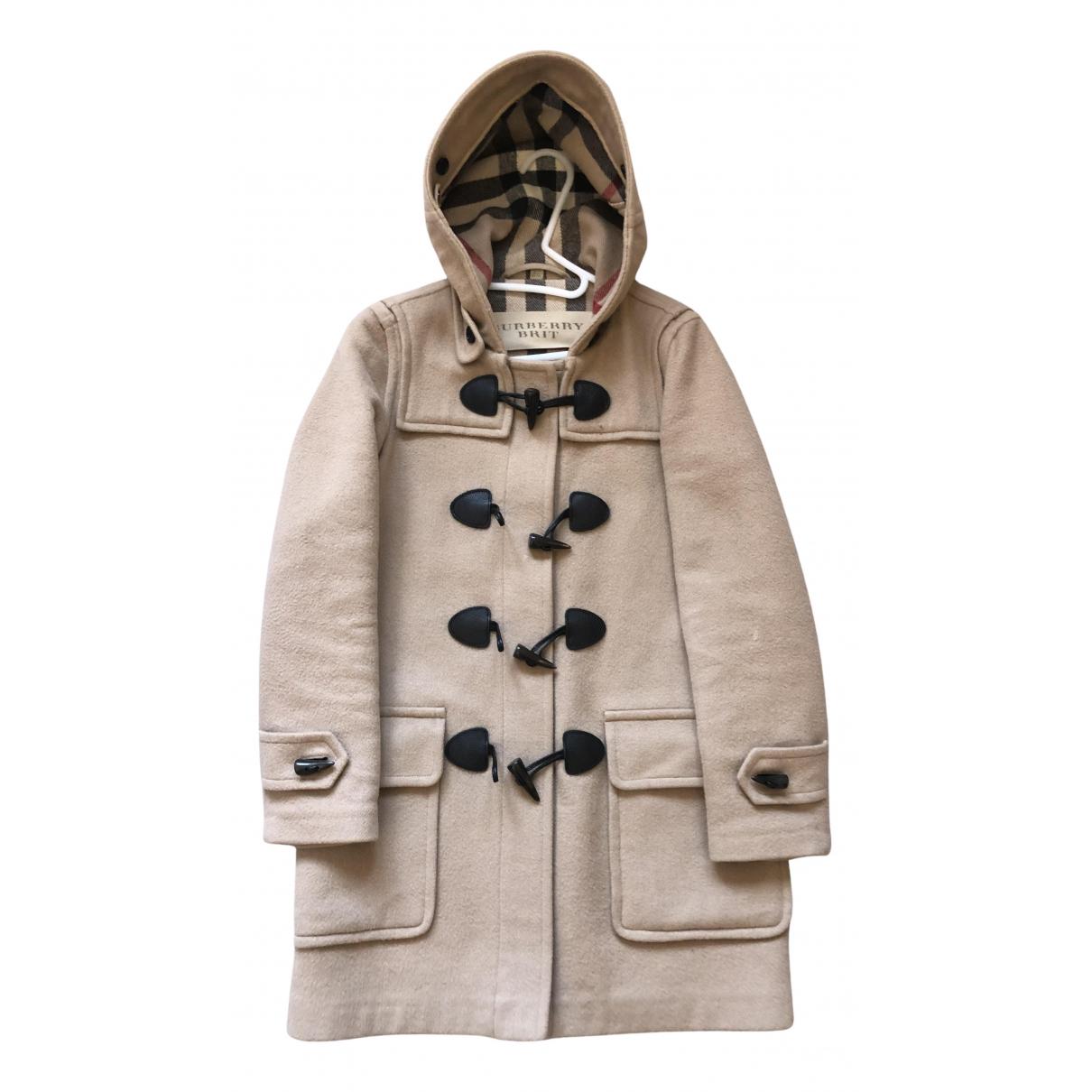 Burberry \N Maentel in  Beige Wolle
