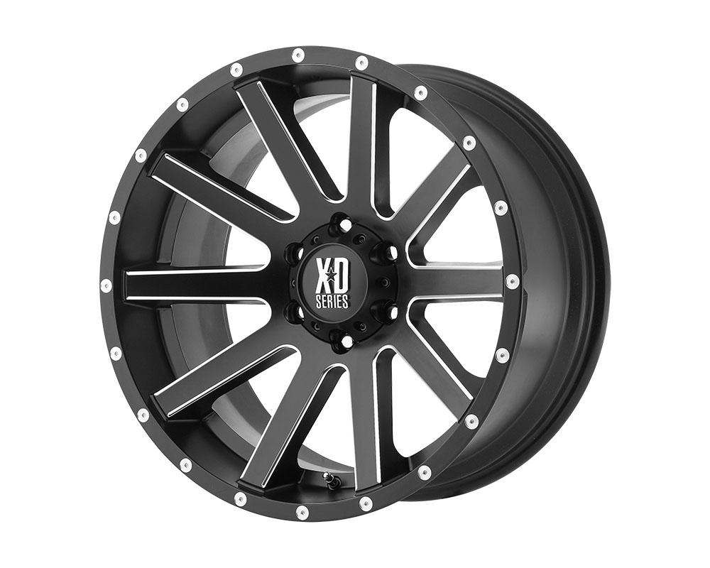 XD Series XD81822063912 XD818 Heist Wheel 22x10 6x6x135 +12mm Satin Black Milled