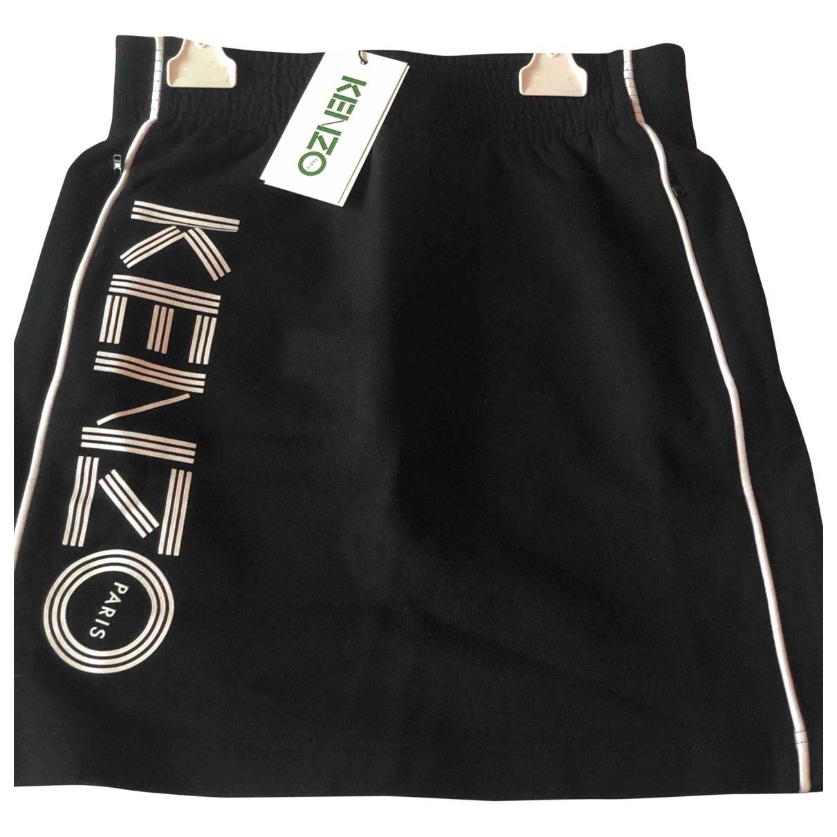Kenzo - Jupe   pour femme en coton - noir