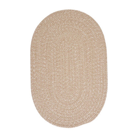 Colonial Mills American Tweed Braided Oval Reversible Indoor Rugs, One Size , Beige