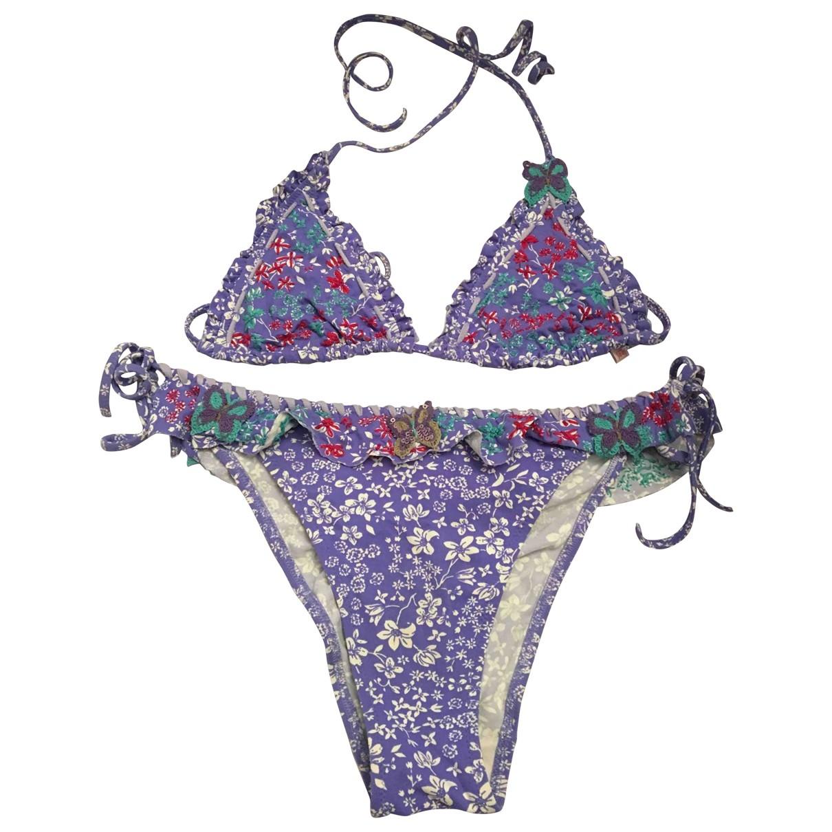Non Signé / Unsigned \N Purple Lycra Swimwear for Women \N