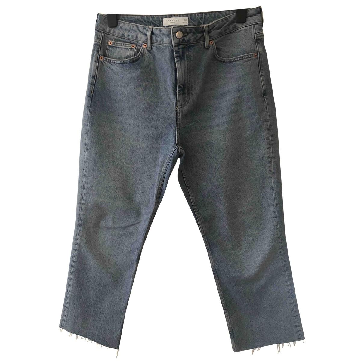 tophop \N Blue Cotton Jeans for Women 34 FR