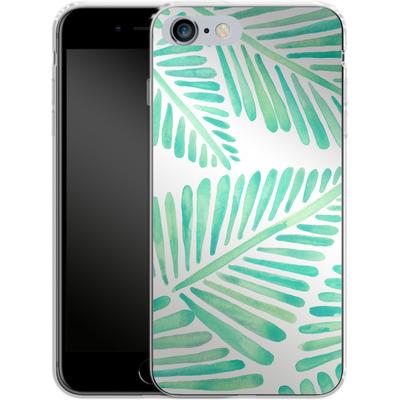 Apple iPhone 6s Plus Silikon Handyhuelle - Banana Leaves Seafoam von Cat Coquillette