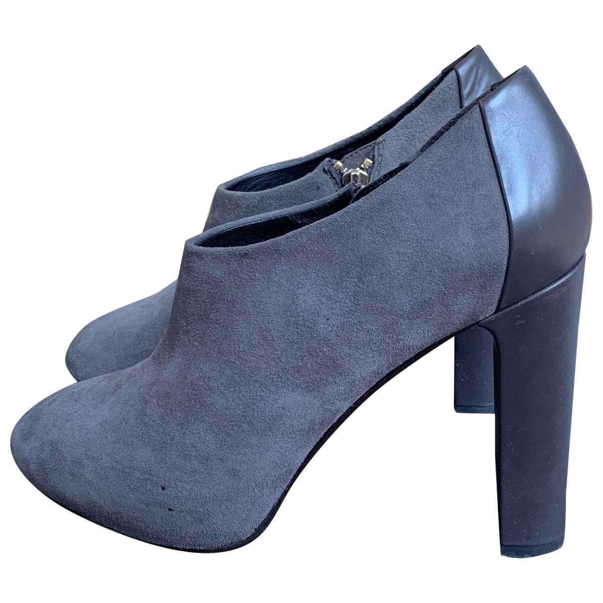 Furla - Boots   pour femme en cuir - gris