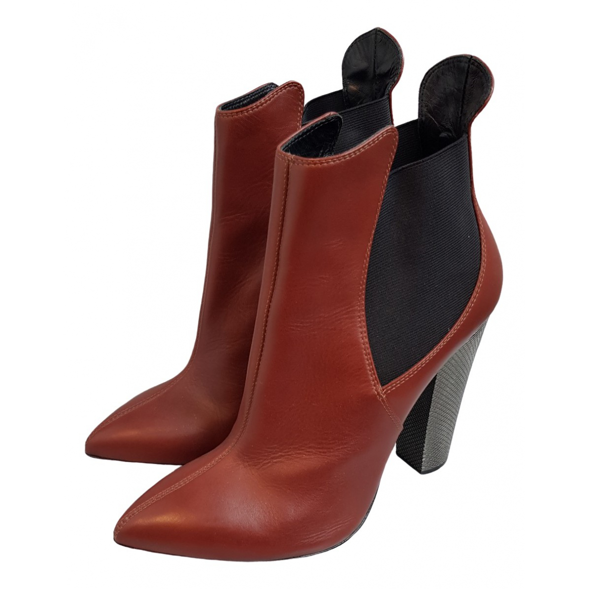 Giuseppe Zanotti \N Brown Leather Ankle boots for Women 39.5 EU