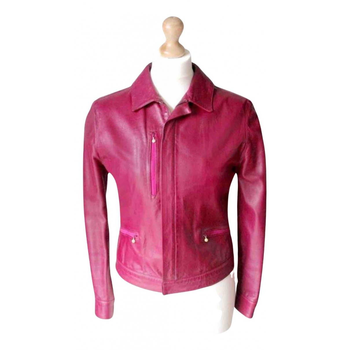 Versace Jeans \N Lederjacke in  Rosa Leder