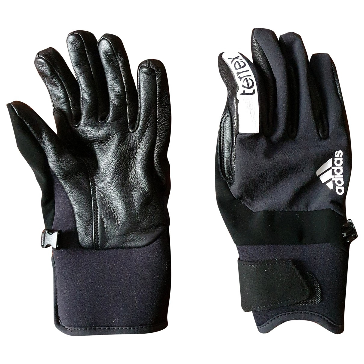 Adidas \N Black Leather Gloves for Men M International