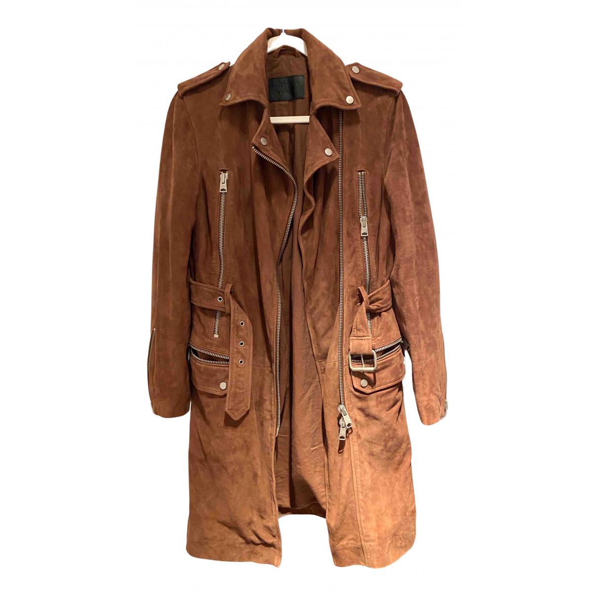 All Saints N Brown Suede jacket for Women 10 UK
