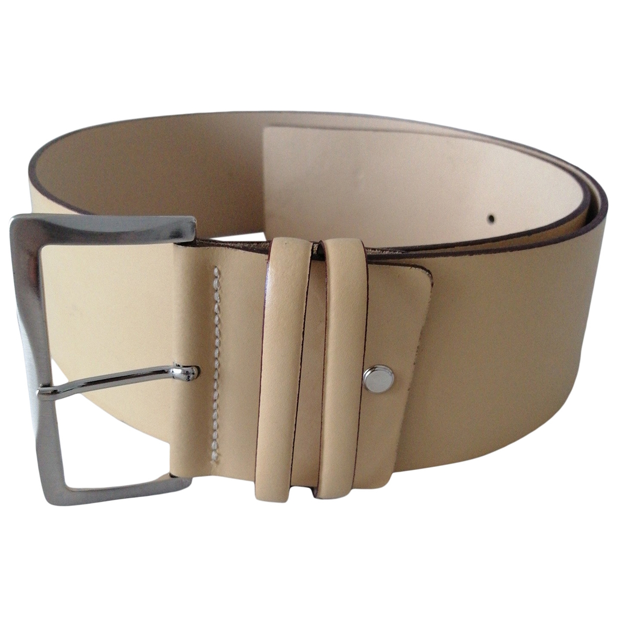Non Signé / Unsigned \N Beige Leather belt for Women L International