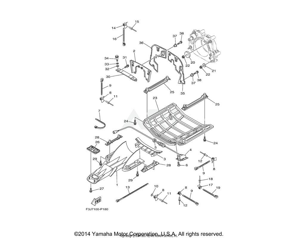 Yamaha OEM F3J-6273B-00-00 PLATE 2