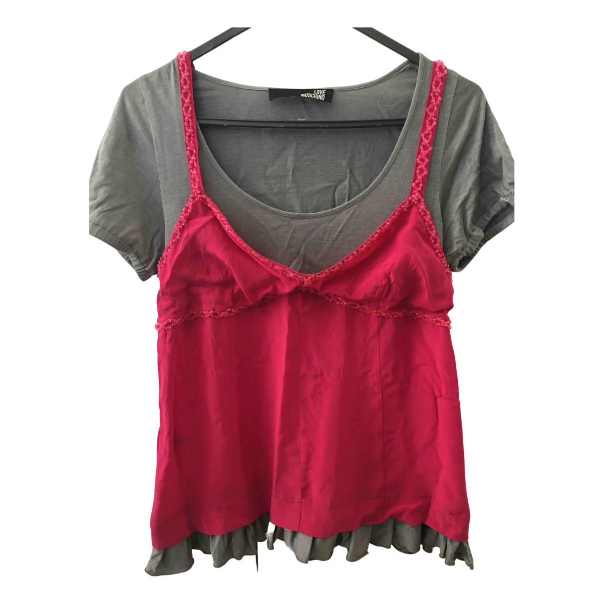 Moschino Love N Pink Cotton  top for Women 32 FR