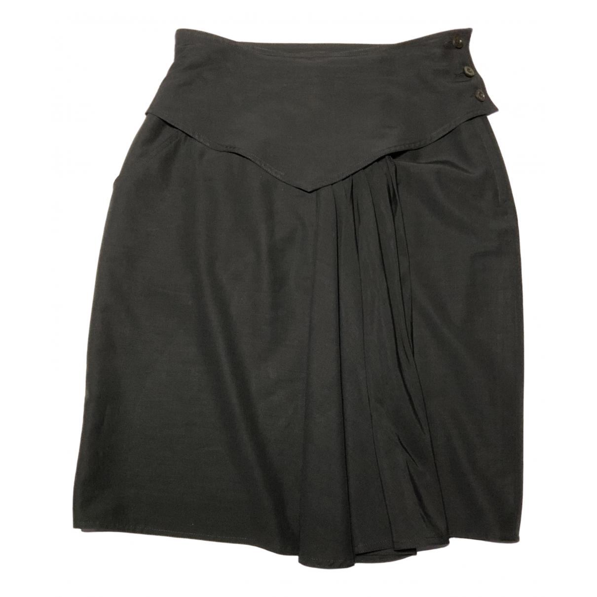 Sport Max \N Black Wool skirt for Women 44 IT