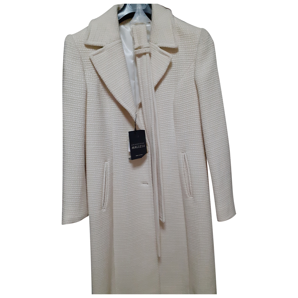Non Signé / Unsigned \N Beige Wool coat for Women 48 FR