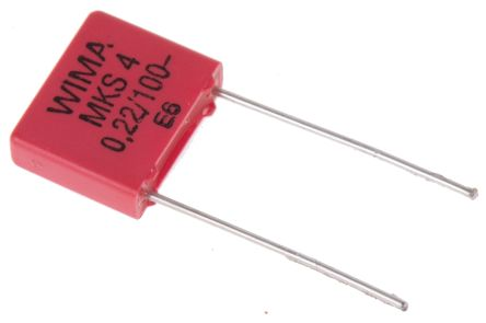 WIMA 220nF Polyester Capacitor PET 63 V ac, 100 V dc ±10%, Through Hole (5)