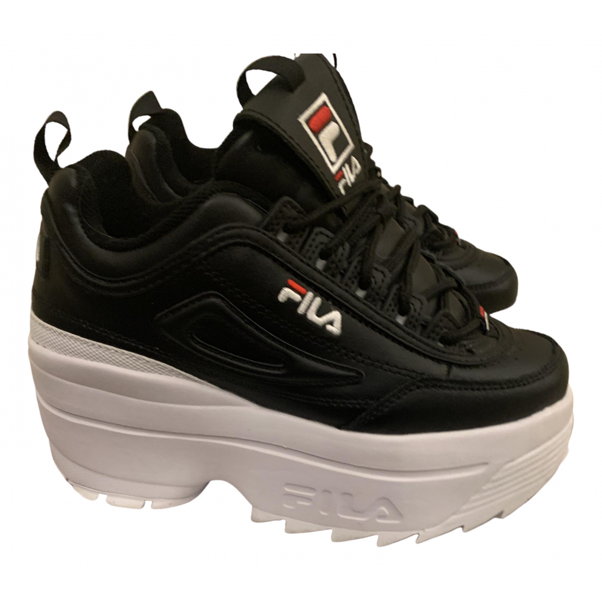 Fila N Black Leather Trainers for Women 37 EU